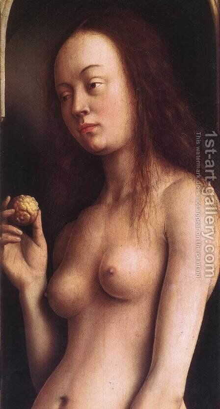 The Ghent Altarpiece- Eve (detail 2) 1425-29 by Jan Van Eyck - Reproduction Oil Painting