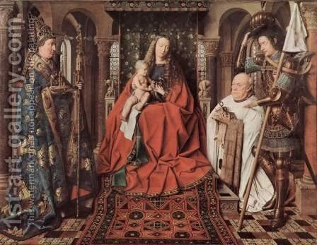 The Madonna of Canon van der Paele 1436 by Jan Van Eyck - Reproduction Oil Painting