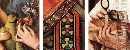 The Madonna with Canon van der Paele (details 2) 1436 by Jan Van Eyck - Reproduction Oil Painting