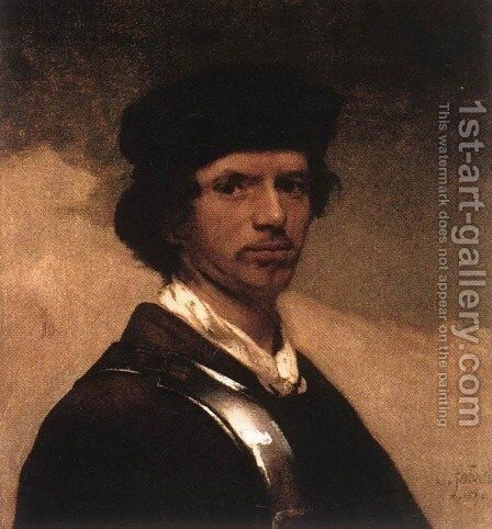 Self-Portrait 1654 by Carel Fabritius - Reproduction Oil Painting