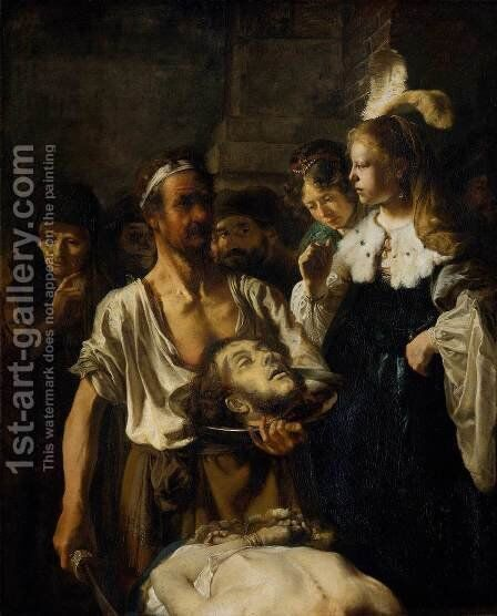 The Beheading of St. John the Baptist c. 1640 by Carel Fabritius - Reproduction Oil Painting