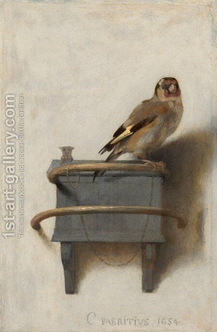 The Goldfinch 1654 by Carel Fabritius - Reproduction Oil Painting