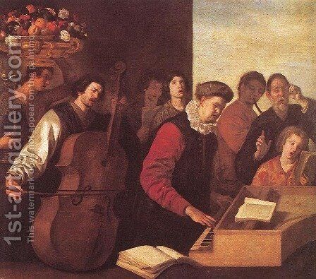 The Concert by Aniello Falcone - Reproduction Oil Painting