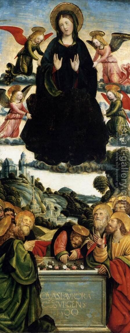 The Assumption of the Virgin 1500 by Defendente Ferrari - Reproduction Oil Painting