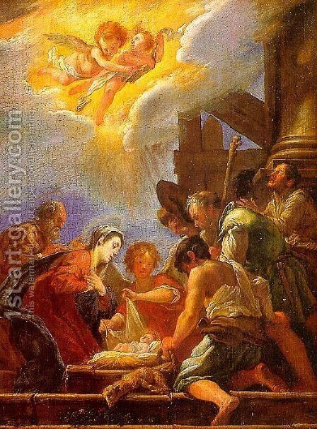 Adoration of the Shepherds by Domenico Fetti - Reproduction Oil Painting