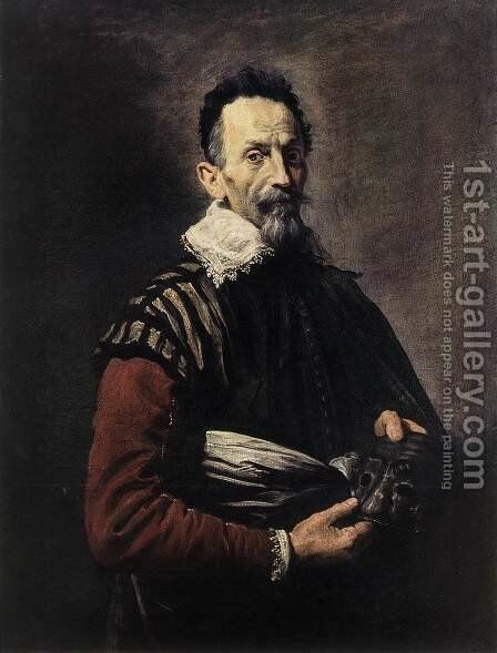 Portrait of an Actor 1623 by Domenico Fetti - Reproduction Oil Painting