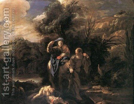 Flight to Egypt 1621-23 by Domenico Fetti - Reproduction Oil Painting