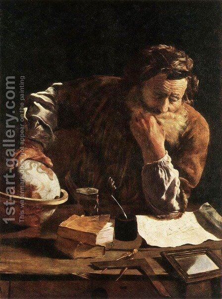 Portrait of a Scholar by Domenico Fetti - Reproduction Oil Painting