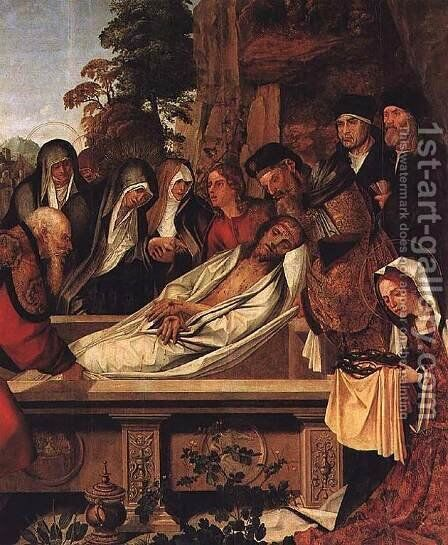 Deposition c. 1530 by Cristovano Figueiredo - Reproduction Oil Painting