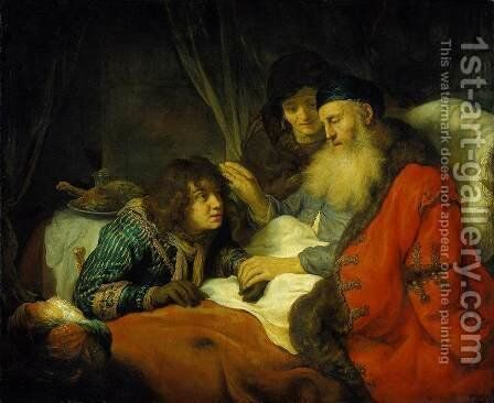 Isaac Blessing Jacob 1639 by Govert Teunisz. Flinck - Reproduction Oil Painting