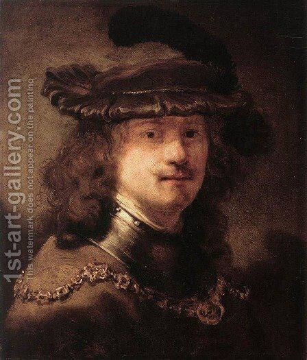 Portrait of Rembrandt 1633-34 by Govert Teunisz. Flinck - Reproduction Oil Painting