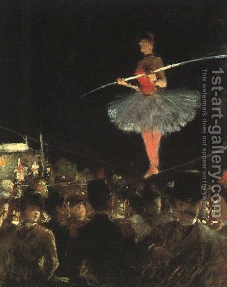The Tightrope Walker by Jean-Louis Forain - Reproduction Oil Painting