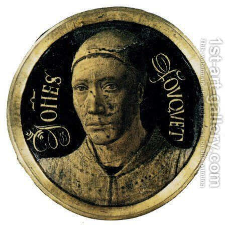 Self-Portrait 1450 by Jean Fouquet - Reproduction Oil Painting