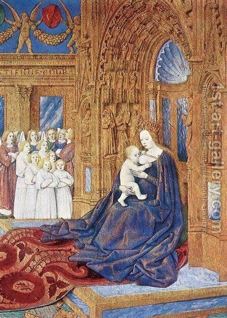 The Madonna before the Cathedral 1452-60 by Jean Fouquet - Reproduction Oil Painting