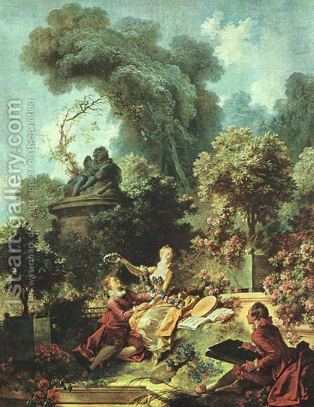 The Lover Crowned 1771-73 by Jean-Honore Fragonard - Reproduction Oil Painting