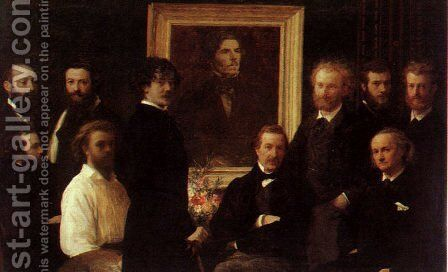Homage to Delacroix 1864 by Ignace Henri Jean Fantin-Latour - Reproduction Oil Painting