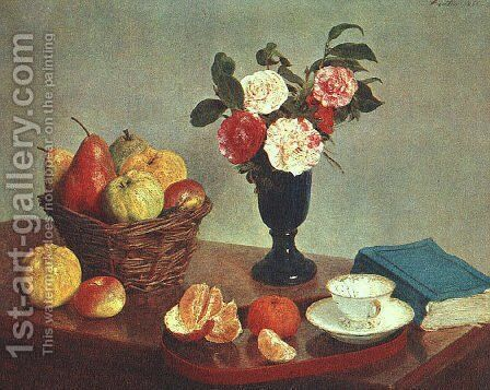 Still Life 1866 by Ignace Henri Jean Fantin-Latour - Reproduction Oil Painting