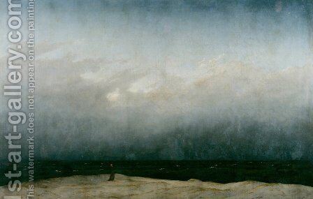 Monk by the Sea 1809 by Caspar David Friedrich - Reproduction Oil Painting