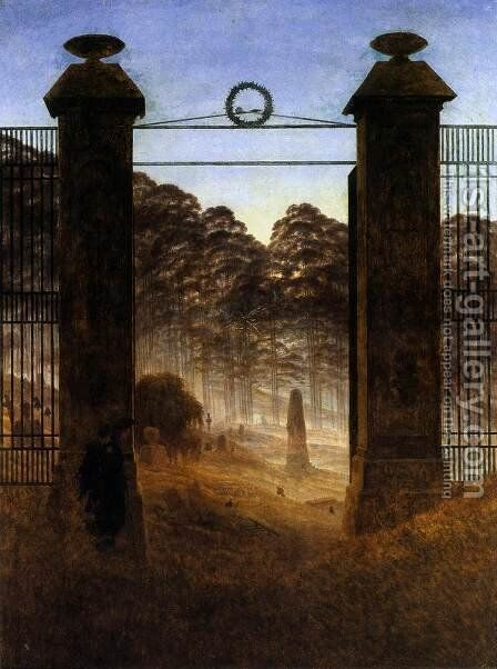 The Cemetery Entrance 1825 by Caspar David Friedrich - Reproduction Oil Painting