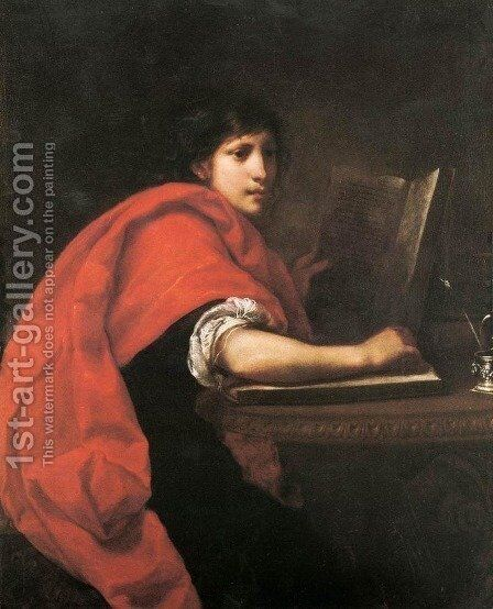St John the Evangelist 1630s by Francesco Furini - Reproduction Oil Painting