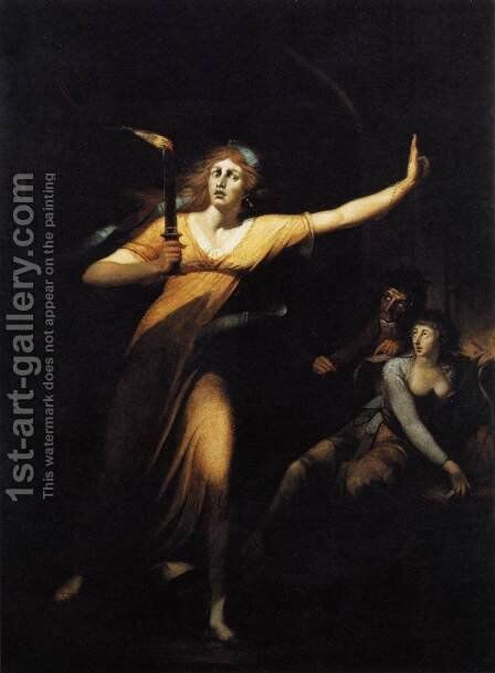 Lady Macbeth 1784 by Johann Henry Fuseli - Reproduction Oil Painting