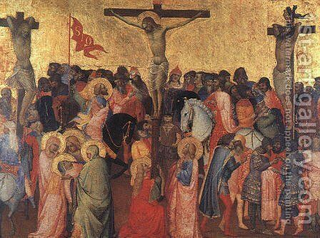 Crucifixion 1390-96 by Agnolo Gaddi - Reproduction Oil Painting