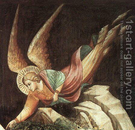 Detail from The Dream of Heraclius 1380 by Agnolo Gaddi - Reproduction Oil Painting