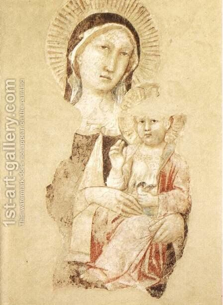 Madonna with Child (fragment) by Agnolo Gaddi - Reproduction Oil Painting