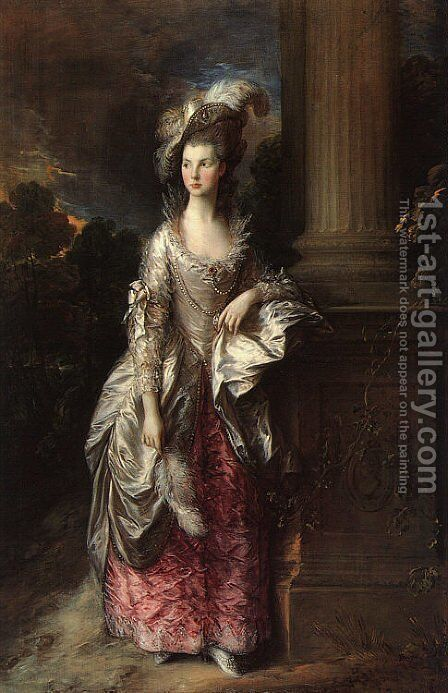 The Honorable Mrs. Graham 1775-77 by Thomas Gainsborough - Reproduction Oil Painting