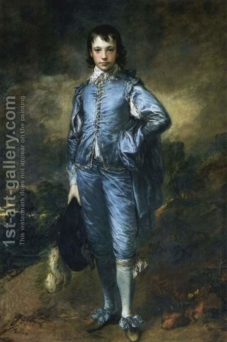 Portrait of Jonathan Buttall (The Blue Boy) 1770 by Thomas Gainsborough - Reproduction Oil Painting