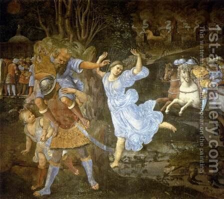 Flight of Aeneas from Troy 1507-10 by Girolamo Genga - Reproduction Oil Painting