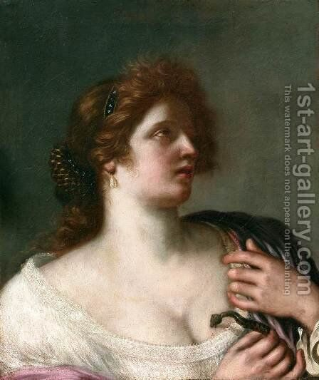 Cleopatra c. 1663 by Cesare Gennari - Reproduction Oil Painting