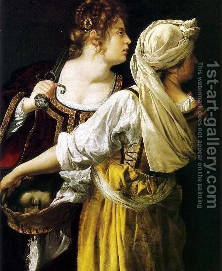 Judith and her Maidservant 1612-13 by Artemisia Gentileschi - Reproduction Oil Painting