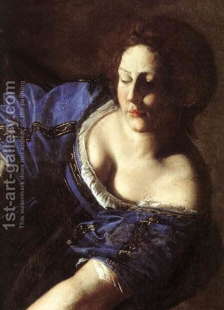 Judith Beheading Holofernes (detail) 1611-12 by Artemisia Gentileschi - Reproduction Oil Painting