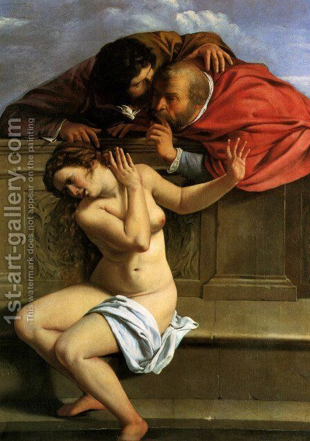 Susanna and the Elders 1610 by Artemisia Gentileschi - Reproduction Oil Painting