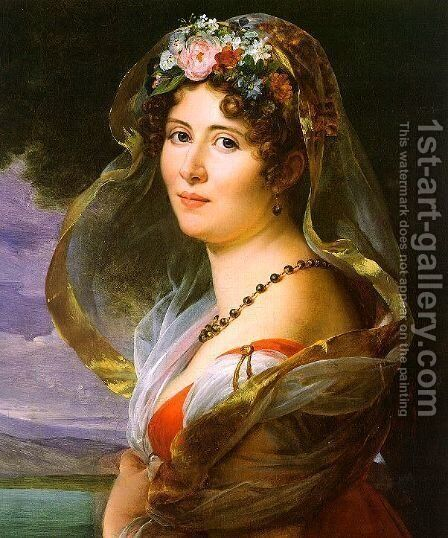 Constance Ossolinska Lubienska 1814 by Baron Francois Gerard - Reproduction Oil Painting