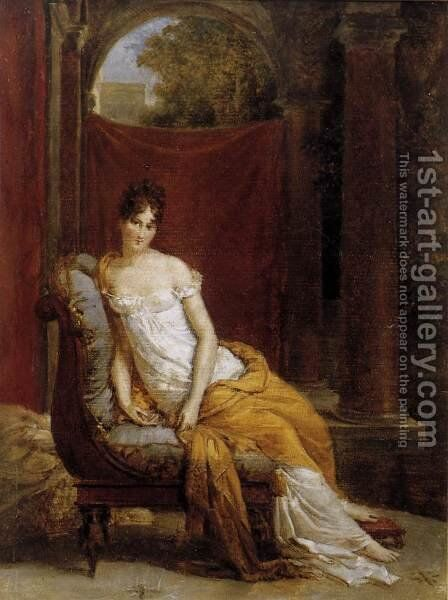 Madame Recamier 1802 by Baron Francois Gerard - Reproduction Oil Painting