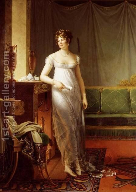 Portrait of Catherine Worlee, Princesse de Talleyrand-Périgord 1804-05 by Baron Francois Gerard - Reproduction Oil Painting