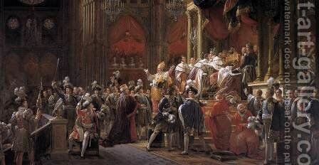 The Coronation of Charles X 1827 by Baron Francois Gerard - Reproduction Oil Painting