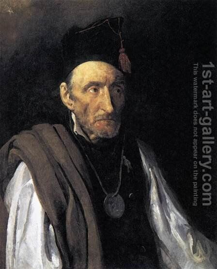 Man with Delusions of Military Command 1819-22 by Theodore Gericault - Reproduction Oil Painting