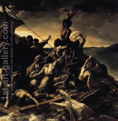 The Raft of the Medusa (detail) 1818-19 by Theodore Gericault - Reproduction Oil Painting