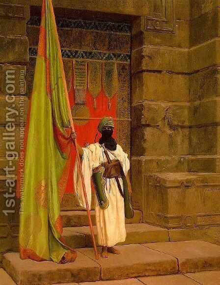 Unfolding the Holy Flag (The Standard Bearer) by Jean-Léon Gérôme - Reproduction Oil Painting