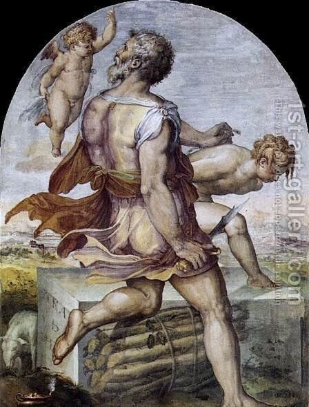Abraham 1555 by Cristofano Gherardi - Reproduction Oil Painting