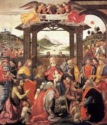 Adoration of the Magi 1488 by Domenico Ghirlandaio - Reproduction Oil Painting