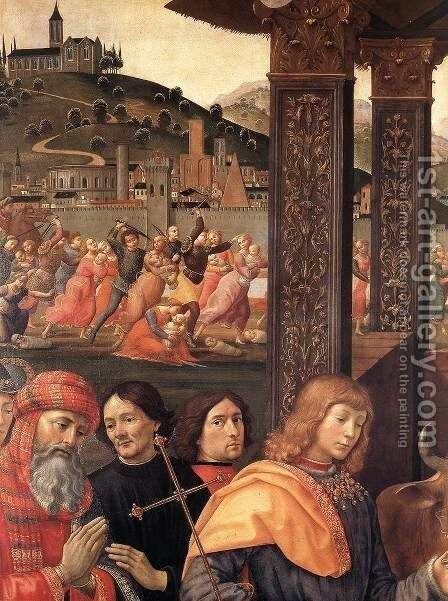 Adoration of the Magi (detail 1) 1488 by Domenico Ghirlandaio - Reproduction Oil Painting