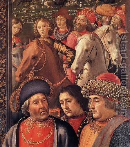 Adoration of the Magi (detail 4) 1488 by Domenico Ghirlandaio - Reproduction Oil Painting