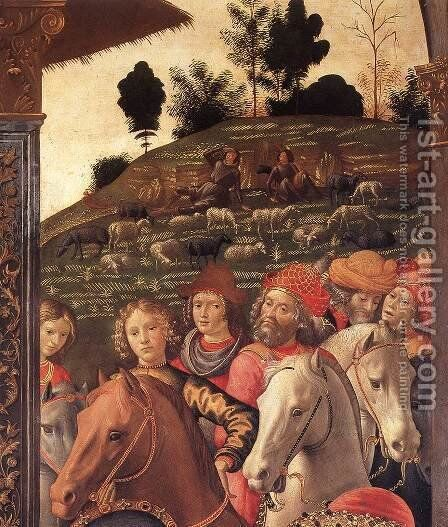 Adoration of the Magi (detail 5) 1488 by Domenico Ghirlandaio - Reproduction Oil Painting