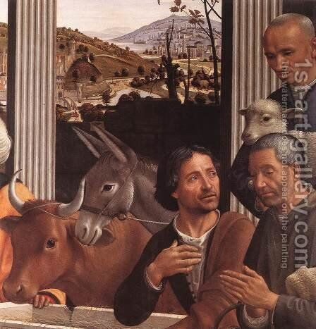 Adoration of the Shepherds (detail 1) 1482-85 by Domenico Ghirlandaio - Reproduction Oil Painting