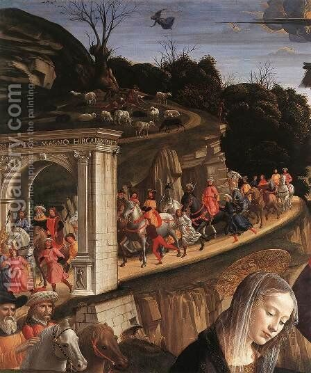Adoration of the Shepherds (detail 3) 1482-85 by Domenico Ghirlandaio - Reproduction Oil Painting