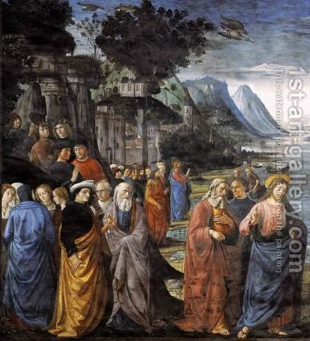 Calling of the Apostles (detail 1) 1481 by Domenico Ghirlandaio - Reproduction Oil Painting